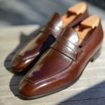 Le mocassin a masque loafer Lupin en cuir marron