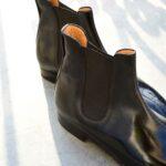 La bottine à élastique whole cut Chelsea boot Matt en cuir noir