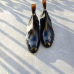 The Matt Whole-cut Chelsea Boot in black leather calf