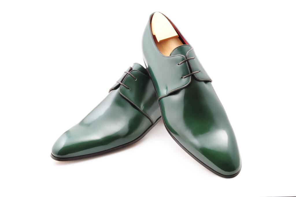 Le derby Sacha en cuir vert