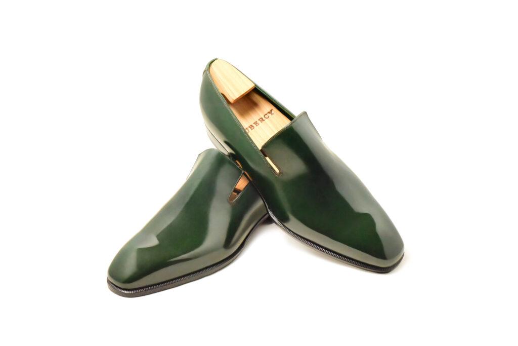 Le mocassin loafer Sonio en cuir vert
