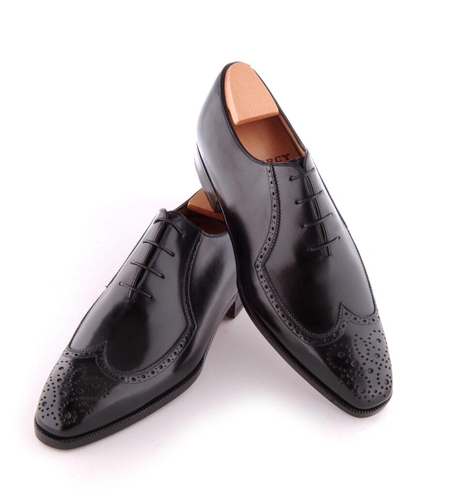 Le richelieu oxford Victor en cuir noir