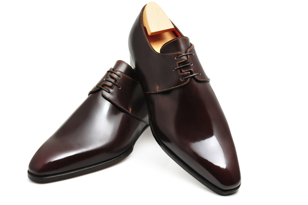 Le derby Amadeo en cuir marron