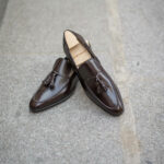 The tassel loafer Dorian in brown leather