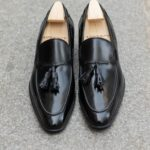 The tassel loafer Dorian in black leather